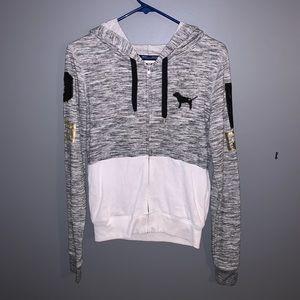 Zip up pink hoodie